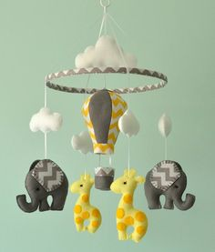 Baby Mobile Elephant Giraffe Mobile Hot Air Balloon