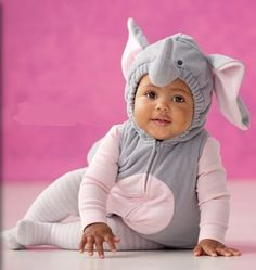 Carter's Elephant Halloween Costume 3 Pieces Gray Pink Hooded Top Shirt Tights NEW (12 months) by Carter's, http://www.amazon.com/dp/B008XN0OJ8/ref=cm_sw_r_pi_dp_btNqqb1T7WSW6