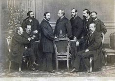 Spanish general Juan Prim, Prime Minister of Spain, with his government after the Glorious Revolution, 1869.