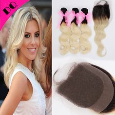 88.40$  Buy here - http://ali2yp.worldwells.pw/go.php?t=32784122584 - Unprocessed Ombre Indian Virgin Hair Weave Body Wave 3 Bundles With Closure Indian Ombre Human Hair Extension With Lace Closure