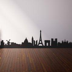 Vinilo decorativo skyline París