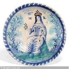 DELFT - PORTRAIT CHARGER OF QUEEN MARY II