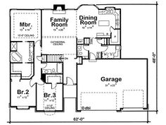 Find your dream french-country style house plan such as Plan which is a 1763 sq ft, 3 bed, 2 bath home with 3 garage stalls from Monster House Plans. House Plans And More, Best House Plans, Dream House Plans, Small House Plans, House Floor Plans, Ranch House Remodel, Ranch House Plans, Craftsman House Plans, Craftsman Homes