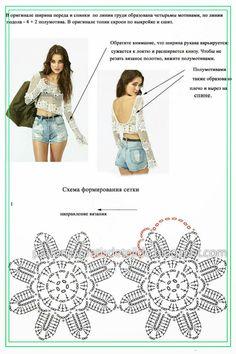 Crochet Beach Dress, Black Crochet Dress, Crochet Crop Top, Crochet Blouse, Diy Crochet, Crochet Bikini, Crochet Tunic Pattern, Crochet Patterns, Beautiful Crochet