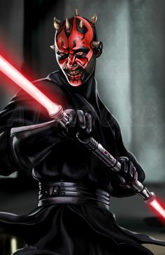 Typical bad ass Sith 'Fan Art' of Darth Maul.