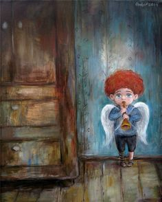 Art by Nino Chakvetadze Art Et Illustration, Illustrations, Pictures To Paint, Art Pictures, Images D'art, Abstract Drawings, Butterfly Wallpaper, Naive Art, Angel Art