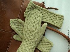 варежки Mittens, Gloves, Socks, Knitting, Hats, Fingerless Mitts, Tricot, Hat, Breien