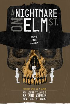 A Nightmare on Elm Street #Film #Poster #Print