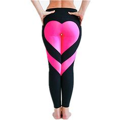 URIJK Women Buttocks Heart Pattern Yoga Pants Workout Sports Gym Leggings Running Pants >>> Read more reviews of the product by visiting the link on the image. (This is an affiliate link) #Clothing