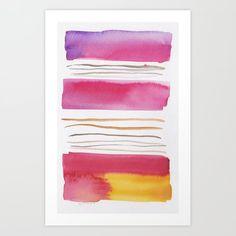 Lines & Color Block Series October 2018 Watercolor Dreamcatcher, Butterfly Watercolor, Watercolor Pattern, Watercolor Print, Pastel Watercolor, Watercolor Art Paintings, Watercolor Artists, Painting Art, Watercolors