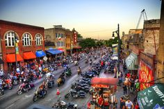 Motorcycle Rally on Sixth Street Austin Texas Photo Art Print Poster Texas Tourism, Visit Texas, Republic Of Texas, Motorcycle Rallies, Texas Usa, Austin Texas, College Station, Best Places To Live