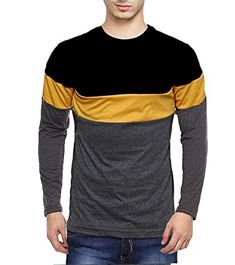 Mens Cotton T Shirts, Solid Black, Long Sleeve, Fitness, Mens Tops, Collections, Stuff To Buy, Amazon, Wedding