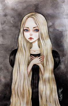 "Series of illustrations ""Fairy Princess"" Cute Drawings, Rapunzel, Dark Art, Art Girl, Art Inspo, Alice In Wonderland, Watercolor Art, Fantasy Art, Anime Art"