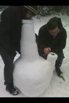 If You are Snowed In, You might as well make the best of it.  19 HUGE HOMEMADE SNOW BONGS