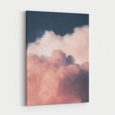 Cloud Painting Print on Etsy Instantly update your room with this stunning large wall art on canvas Daisy Painting, Oil Painting Flowers, Painting Prints, Art Prints, Large Painting, Art Paintings, Painting Clouds, Large Wall Paintings, Moon Painting