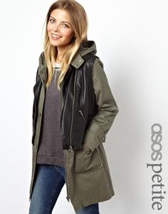 ASOS PETITE Exclusive Parka with Detachable Gillet