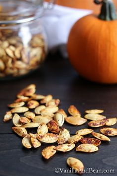 How to Roast Pumpkin Seeds + How to Make Pumpkin Purée Tutorial | Vanilla And Bean