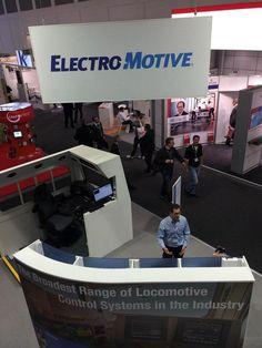 Eneria - stand Electro Motive, #Caterpillar @CaterpillarInc #rail #innoTrans