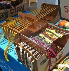 """cardboard box loom"""