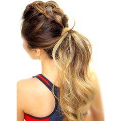 200 penteados incríveis em fotos grandes para inspirar ❤ liked on Polyvore featuring cabelo
