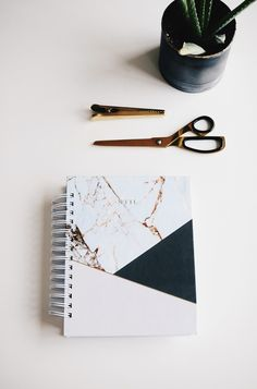 Our planner comes in a weekly planning format and is organized into dated task based and time based sections. Keep track of your spending with our budgeting and expense sheets, keep receipts in the pockets provided, read an inspiring quote at the start of each month and navigate through the pages with our soft-touch tab pages. #planner #organize #marble #stationary #office #homedecor