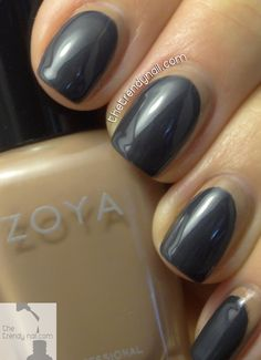 @zoyanailpolish contemporary nail art design as seen on thetrendynail.com #nailart #nails #fallnails