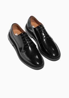 & Other Stories image 2 of Leather Brogues in Black
