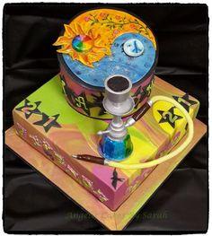 Tatum's 21st Hippie Hubbly Yin & Yang cake