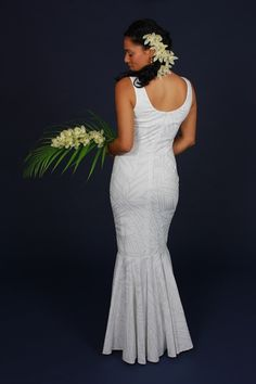 Hawaiian wedding dress Maeva Dress