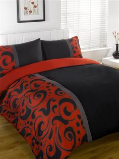Details About New Style Bedding Designs Printed Duvet Quilt Cover Bed Sets Red Bedding Setsblack