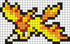Moltres Pokemon Bead Pattern Perler Bead Pattern / Bead Sprite