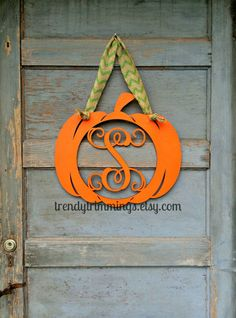 Hey, I found this really awesome Etsy listing only  $25 at https://www.etsy.com/listing/202435729/pumpkin-with-wooden-monogram-letter