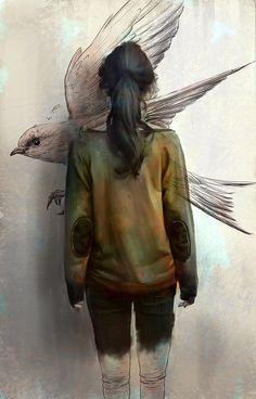 charliebowater:  Swallow byDanielClarke