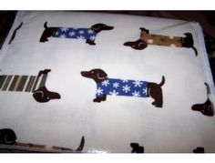 Dachshund sheet set. Just one of the items available in the Furever Dachshund Rescue Auction starting Monday, November 12th. Please preview our items right now! We also need donations still. Contact fundraising@fureverdachshundrescue.org to donate.