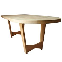 French Oak Dining Table by Guillerme et Chambron | From a unique collection of antique and modern dining room tables at https://www.1stdibs.com/furniture/tables/dining-room-tables/