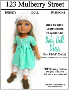 """Going to try this for Disney princess toddler doll Rapunzel (13""""), and Disney toddler Anna doll from Frozen (also 13""""). My 4-year old granddaughter likes these 13"""" dolls better than her American Girl doll.  We call them """"little sisters""""...  really cute dolls and not that expensive..."""