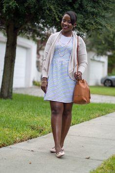 how to wear a stripe dress 1