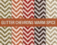 Glitter Chevron Textures Warm Spice by SonyaDeHart on @creativemarket