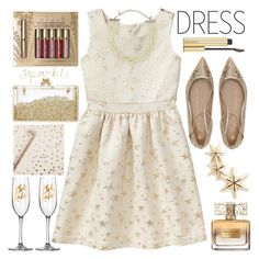 """""""Perfect Party Dress"""" by grozdana-v ❤ liked on Polyvore featuring Gap, Sarah & Sebastian, Sugar Paper, Kenneth Jay Lane, Shoes of Prey, Givenchy, Stila, Kevyn Aucoin and partydress"""