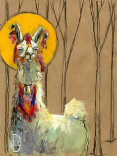 Hey, I found this really awesome Etsy listing at https://www.etsy.com/listing/175197101/sassy-llama-saint-85x11-print-with-mat