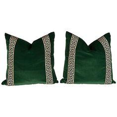 Emerald Green Throw Pillows - Polyvore