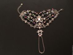 Купить Браслет - слейв на руку Rainbow - радужный браслет, радуга, стильный браслет, модный браслет