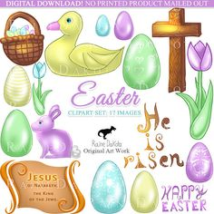 Easter Clipart Christian Digital Images Printable Clip art