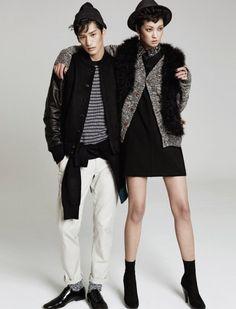 Kang Soyoung and Kim Taehwan by J. Dukhwa for Harper's Bazaar Korea Nov 2013