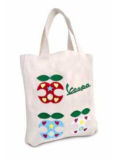 Vespa shopper #Vespa #scooter #merchandising #vintage #ad #shopper #shopping #bag