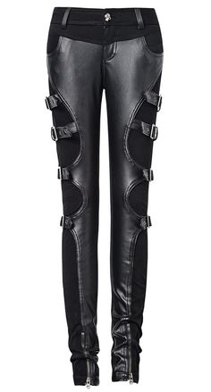 Remis en stock   Back in stock  Pantalon noir avec sangles sur les cotes  retro futuriste Punk Rave Prix  89.90  new  nouveau  japanattitude  pants  ... 022b7443be53