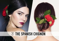 How to: the romantic Spanish chignon at Dolce & Gabbana