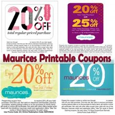 photograph regarding Maurices Coupon Printable identify Demetre Ellison (Pion2Help you save) upon Pinterest