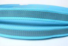 gummiertes Gurtband in Türkis als Meterware