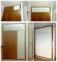 forrar las puertas del armario con vinilo - proceso